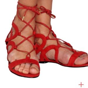 New Marc fisher sandals red